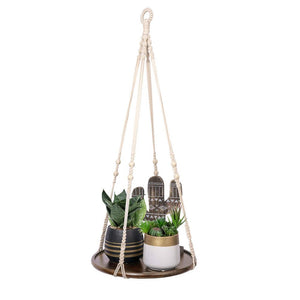 Hanging Plant Shelf Bohemian Home Decor Brwon Shelf