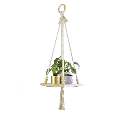 Hanging Plant Shelf Indoor Boho Home Decor