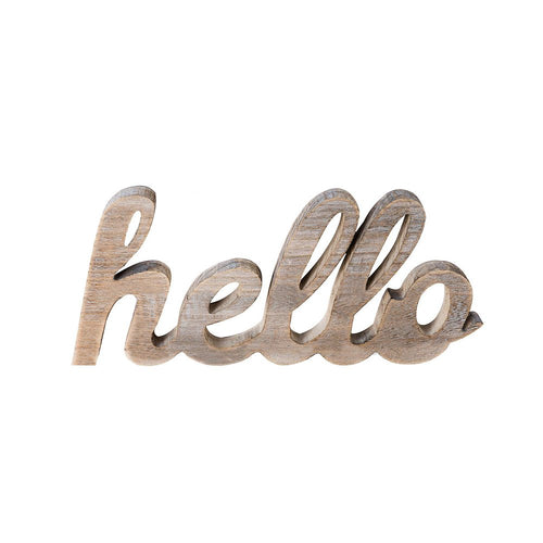 Hello Wood Sign Cut Letters Rustic Farmhouse Wall Hanging Gallery Decor