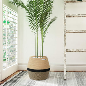 "Jute Rope Plant Basket 12"" x 12"" For Bedroom"