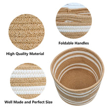 "Load image into Gallery viewer, Jute woven plant basket 10"" x 10"" Storage Organizer Basket Details"