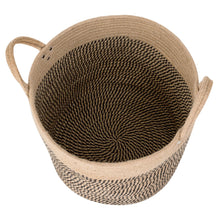 "Load image into Gallery viewer, Large Jute Basket Woven Storage Basket with Handles 14"" x 14"" x 12"" Bottom"