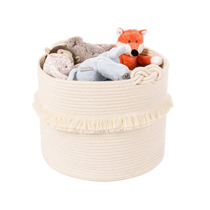 Large Woven Decorative Storage Baskets Cream For Baby Nursery Laundry Hamper 16 x 13 in