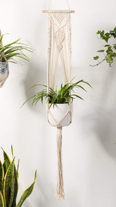 Macrame Handmade Indoor Wall Hanging Planter For Bedroom