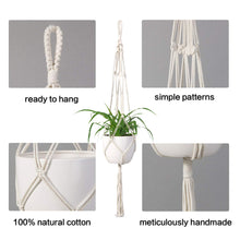 Load image into Gallery viewer, Macrame Plant Hanger Indoor Hanging Planter Beige Details