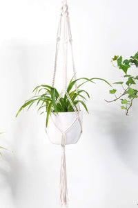 Macrame Plant Hanger Indoor Hanging Planter Beige Bedroom
