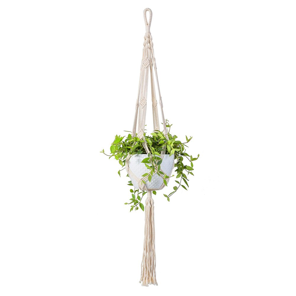 Macrame Rope Plant Hanger Indoor Pot Holder