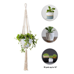 Macrame Rope Plant Hanger Indoor Pot Holder Details