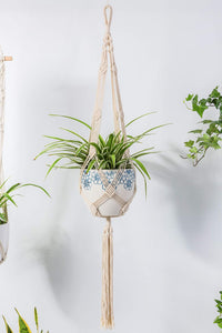 Macrame Rope Plant Hanger Indoor Pot Holder Garden