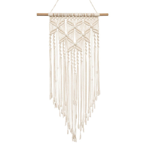 Macrame Tapestry Boho Home Decor White