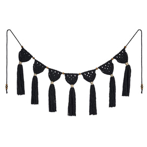 Macrame Wall Hanging Boho Chic Wall Decor Black