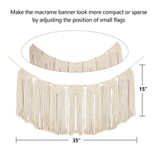 Load image into Gallery viewer, Macrame Wall Hanging Woven Curtain Boho Art Size