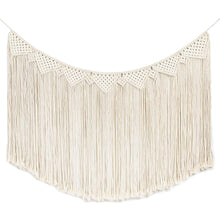 Load image into Gallery viewer, Macrame Wall Hanging Curtain Fringe Garland Banner White
