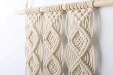 Load image into Gallery viewer, Macrame Wall Hanging Woven Tapestry Wall Decor Beige Material