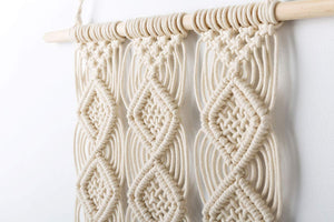 Macrame Wall Hanging Woven Tapestry Wall Decor Beige Material