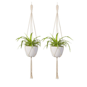 Macrame Wall Plant Hanger Hanging Planter Wall Art 2 Pcs