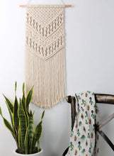 Load image into Gallery viewer, Macrame Woven Wall Hanging Boho Chic Art Decor Beige Bedroom
