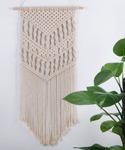 Load image into Gallery viewer, Macrame Woven Wall Hanging Boho Chic Art Decor Beige Living Room