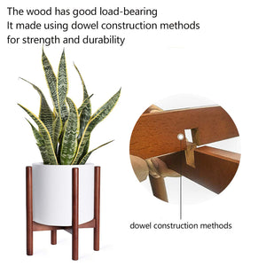 Mid Century Modern Plant Stand Retro Home Decor Details