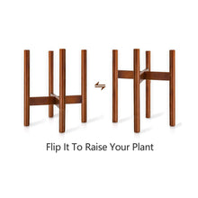Load image into Gallery viewer, Mid Century Modern Plant Stand Retro Home Decor Ways to Use