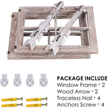 Load image into Gallery viewer, Rustic white window and arrows farmhouse decor  the package comes in