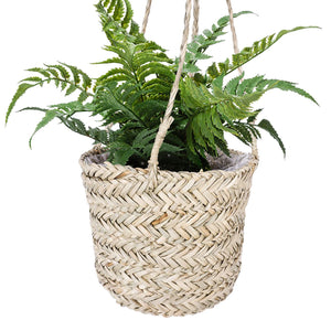 Seagrass Hanging Planter Handmade Indoor Flower Pot Holder
