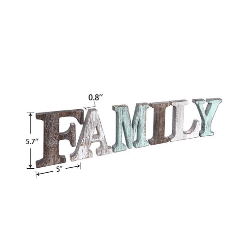 Separate Family Wall Sign Changeable Letters Cut Word Signs Rustic Farmhouse Decor product siz
