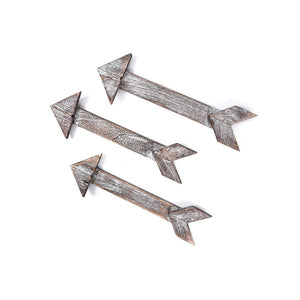 Set of  3 Wooden Signs for Bedroom Modern Arrow Laundry Sign Wall Hanging Decor Timeyard