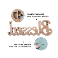 Load image into Gallery viewer, Simply Blessed Wall Sign Wood Signs for Home Bedroom Baby Nursery Decorations how can i install the wall signs