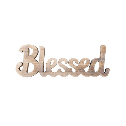 Simply Blessed Wall Sign Wood Signs for Home Bedroom Baby Nursery Decorations Timeyard