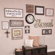 Load image into Gallery viewer, Simply Blessed Wall Sign Wood Signs for Home Bedroom Baby Nursery Decorations
