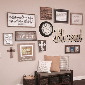 Simply Blessed Wall Sign Wood Signs for Home Bedroom Baby Nursery Decorations