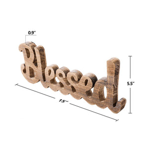 Simply Blessed Wall Sign Wood Signs for Home Bedroom Baby Nursery Decorations product size