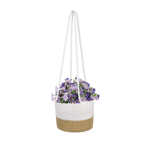 Cotton & Jute Rope Wall Hanging Planter Up to 8