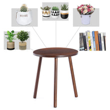 Load image into Gallery viewer, Small Round Side Table Indoor Tall Plant Stand Decor