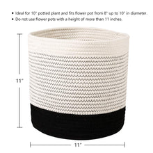 "Load image into Gallery viewer, Small Wicker Baskets For Flower Pot Indoor Planters 11"" x 11"" Size"
