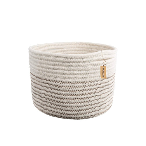 Small Woven Storage Bins for Keys Rings Organizer Cotton Rope Desk Basket Timeyard