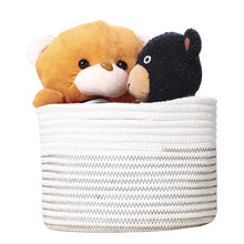 Load image into Gallery viewer, Small Woven Storage Bins for Keys Rings Organizer Cotton Rope Desk Basket 9.4 x 7.1 in