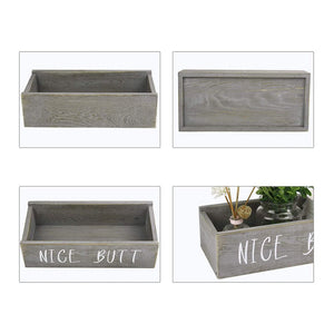 Timeyard Rustic Reclaimed Wood Bathroom Box