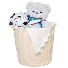 Load image into Gallery viewer, Cream Hamper Baskets for Bedroom Storage Corner Laundry Basket 12.6 x 16.0 x 15.0 in