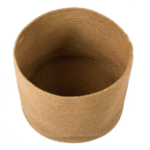 Large Jute Basket for Indoor Planter Baby Nursery Bin for Building blocks 15.8 x 12.6 in