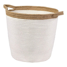 Load image into Gallery viewer, Timeyard Large Storage Baskets with Handles Cotton Jute Rope Baby Nursery Bin