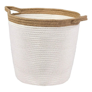Timeyard Large Storage Baskets with Handles Cotton Jute Rope Baby Nursery Bin