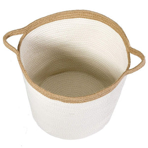 Large Storage Baskets with Handles Cotton Jute Rope Baby Nursery Bin