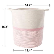 Load image into Gallery viewer, Timeyard Pink Basket for Kids Large Laundry Hampers Nursery Bins standard size