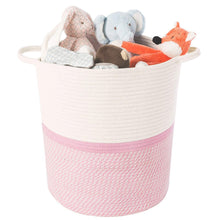 Load image into Gallery viewer, Timeyard Pink Basket for Kids Large Laundry Hampers Nursery Bins toy storage