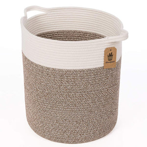 Timeyard Tall Blanket Basket for Baby Laundry Hampers Playroom Storage