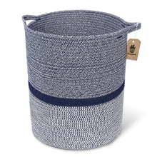 Load image into Gallery viewer, Timeyard Woven Clothes Basket Large Soft Cotton Storage Laundry Hamper Navy Blue
