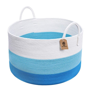 XXXL Decorative Storage Bins Blue Basket  Toy Basket for Baby Nursery Room
