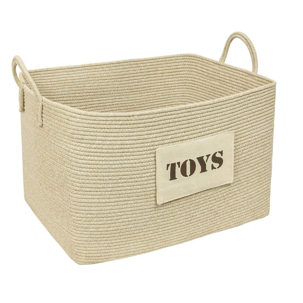 Toy Basket Cotton Woven Rope Basket for Playroom
